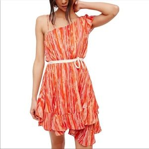 Free People Heart Shaped Face Colorful Dress